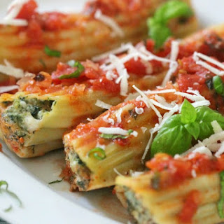 Spinach and Sausage Stuffed Manicotti