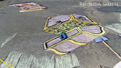 Photo: More shots of the chalk part of the festival.