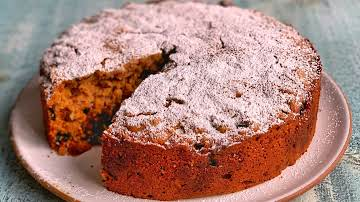 Spiced Rum-Soaked Fruitcake