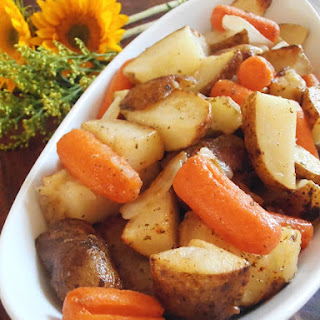 Roasted Ranch Potatoes and Carrots