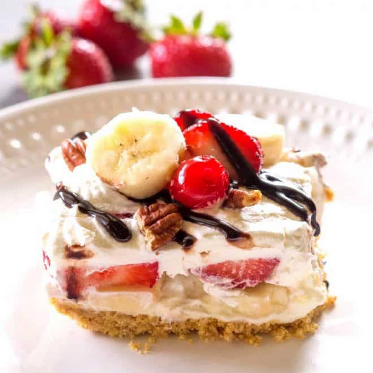 Paula Deen Banana Split Cake Recipe
