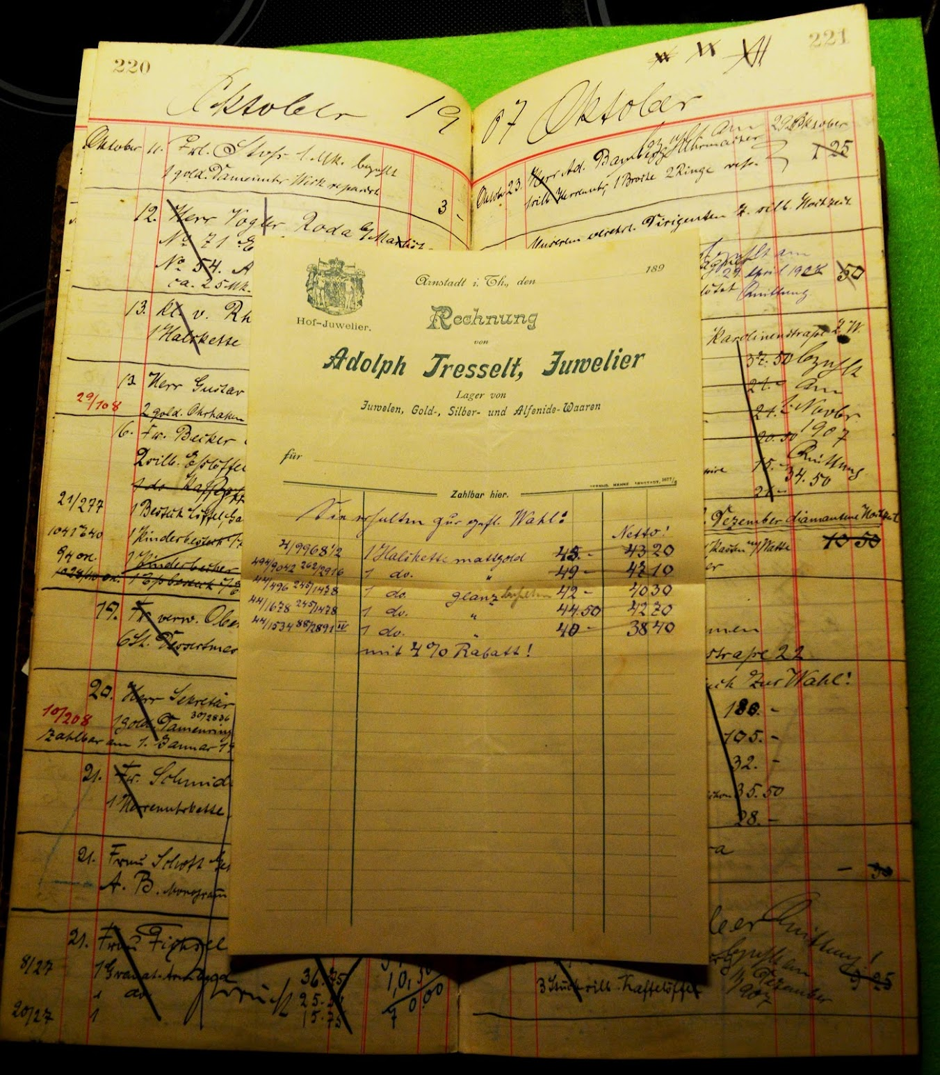 Goldschmied Tagebuch - 1901 bis 1921
