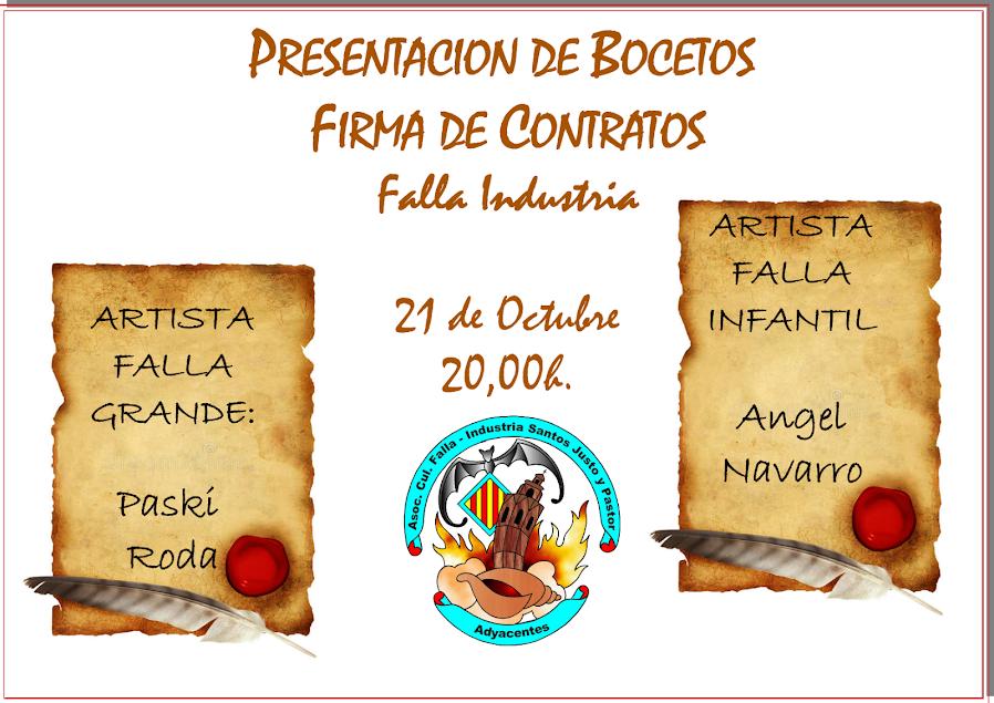 Presentación de Bocetos y Firma de Contratos - de Industria Santos Justo y Pastor