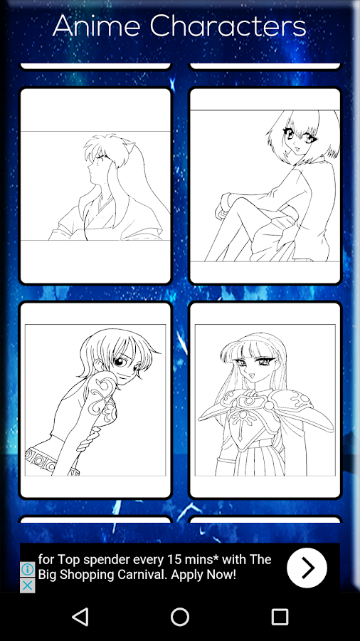 Anime Coloring Book Screenshot