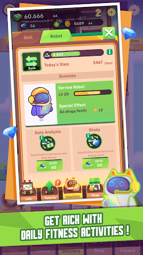 Fit Tycoon - Business Idle Clicker + healthy twist screenshots 2
