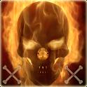 Flaming Skull Theme Skull Fire icon