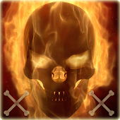 Flaming Skull Theme Skull Fire