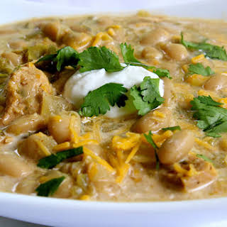 Healthy White Bean Chicken Chili Crock Pot Recipes.