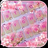 Download Pink Sakura Flower Keyboard Theme Free
