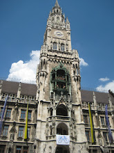 Photo: The tower containing the glockenspiel clock, which strikes twice a day at noon and five.