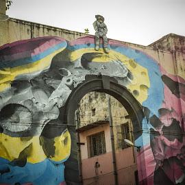 Street Art by Manasvini Munjal - Abstract Light Painting ( wall art, graffiti, art, wall )