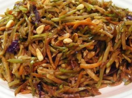 When sauce cook down add slaw and beansprouts turn to low to keep warm.  Another...