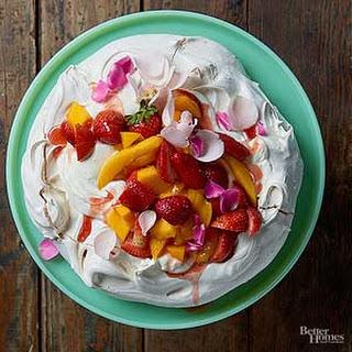Strawberry, Mango & Rose Pavlova