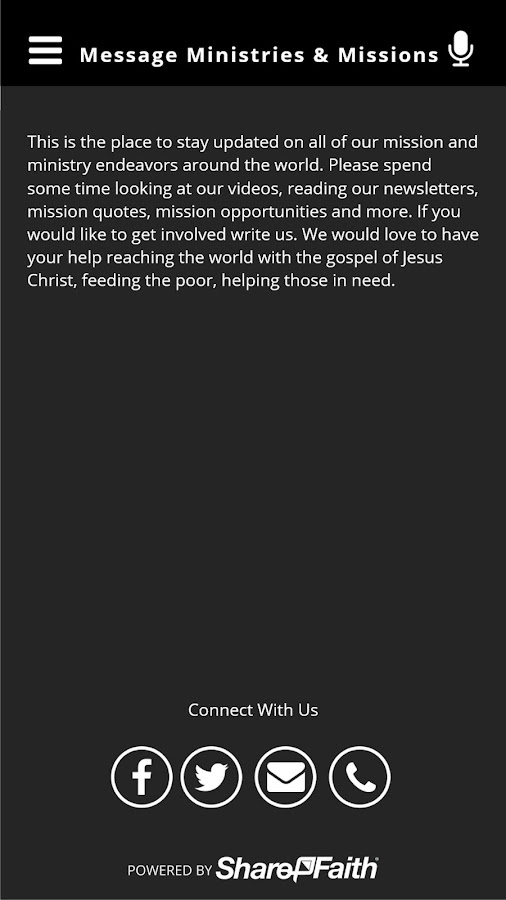 Message Ministries & Missions- screenshot
