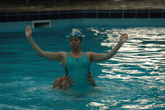 Photo: swimmer in havana. Tracey Eaton photo.