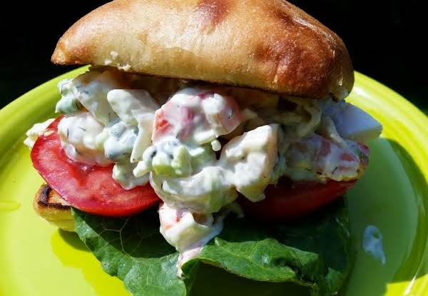 ~ Simply Delicious Seafood Ciabatta Sammie ~