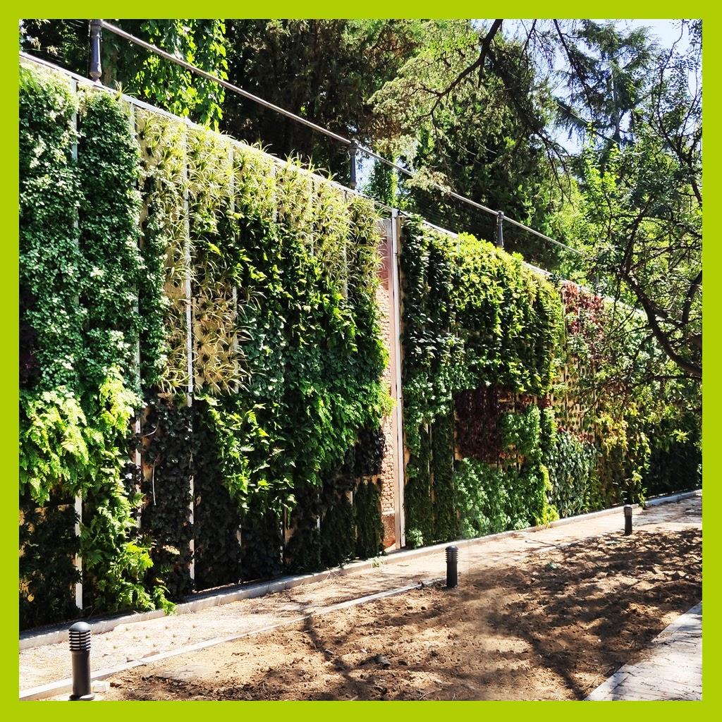 Jardín vertical en Madrid, en exterior, en el Canal de Isabel II