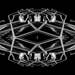kaleidoscope by Jim Merchant - Abstract Patterns ( mirror, pattern, metal, night, architecture )