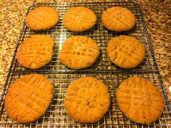 Remove the peanut butter cookies the oven. Transferthe peanut butter cookies to a wire...