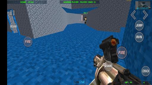 Paintball shooting war game: blocky gun paintball screenshots 3
