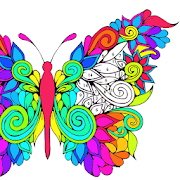 Adult Coloring By Number Book Paint Butterfly 2018