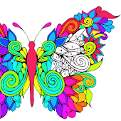 Adult Coloring by Number Book-Paint Butterfly 2018
