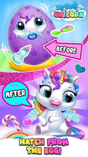 My Baby Unicorn - Cute Rainbow Pet Care & Dress Up 이미지[1]