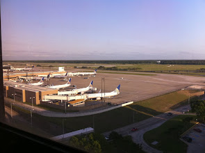 Photo: ...even if it's just a (rotating) view of the airport.