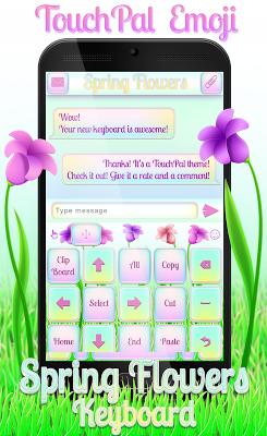 TouchPal Emoji Spring Flowers - screenshot