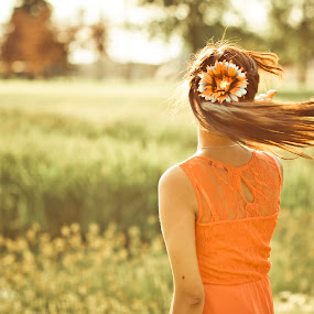 Summer Scent by Anh Nguyen - People Portraits of Women ( woman, braid, summer, lady, swing, hair, portrait, sun, laramie )