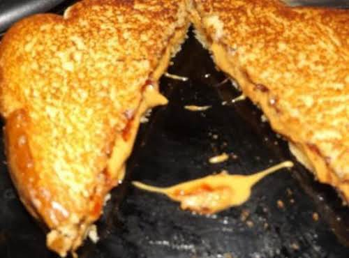 """Grilled Peanut Butter and Jelly Sandwich """"I highly suggest eating this sandwich..."""