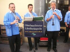 Photo: Das Klarinetten Trio. (von l) Thomas Diethelm, Philipp Rieder und Urs Mangold