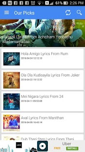 Tamil Songs Lyrics- screenshot thumbnail
