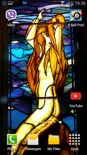 Stain Glass Mermaid Wallpaper