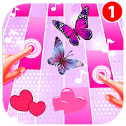 Love Pink Magic Piano Tiles Butterfly 2018