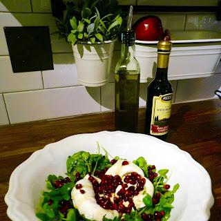 Pomegranate Mozzarella Salad.