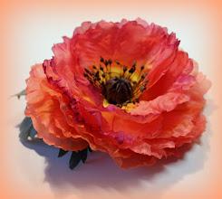 Photo: Мак из шелка #Silkflower #handmade #flowersilk #цветыизшелка #цветыручнойработы #flower #silk
