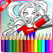 Coloring Book Harley Quinn