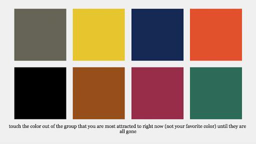 Color Flower Essence Test
