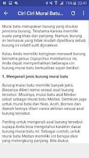 Download Kicau Murai Batu Medan Juara For PC Windows and Mac apk screenshot 4