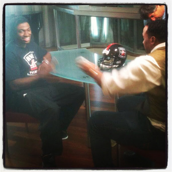 Photo: RGIII sits down with Jamal Anderson for an exclusive CNN interview.