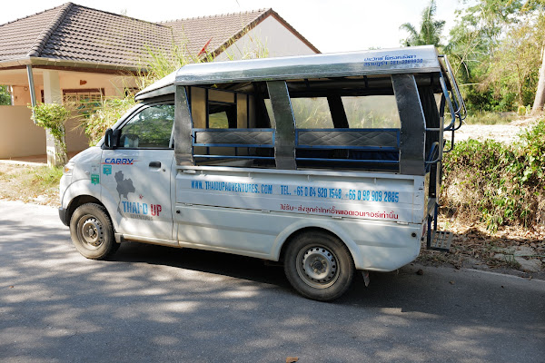 Convenient pickup service by local truck from your hotel in Krabi