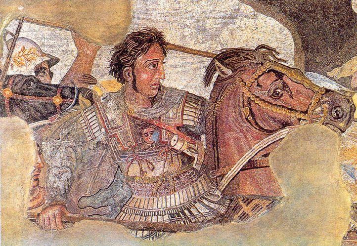 Mosaico de Alexandre, o Grande. Imagem: Museu Arqueológico Nacional de Nápoles, Itália.