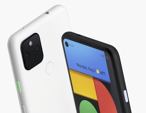 Pixel 4a with 5G in both black and white
