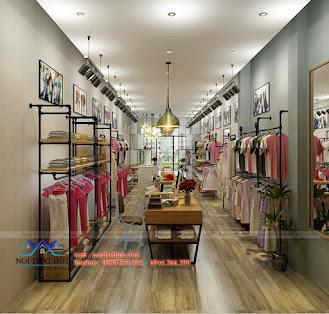 Thiết kế cửa hàng nữ đẹp