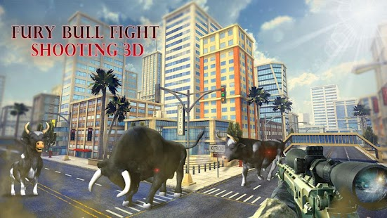 Fury Bull Fight Shooting 3D - náhled