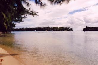 Photo: #002-Le lagon devant notre faré, à l'aube