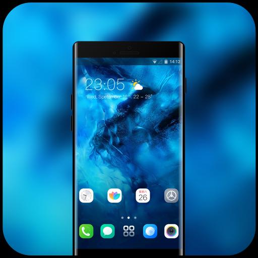 Theme for fantasy blue sea vivo nex wallpaper icon