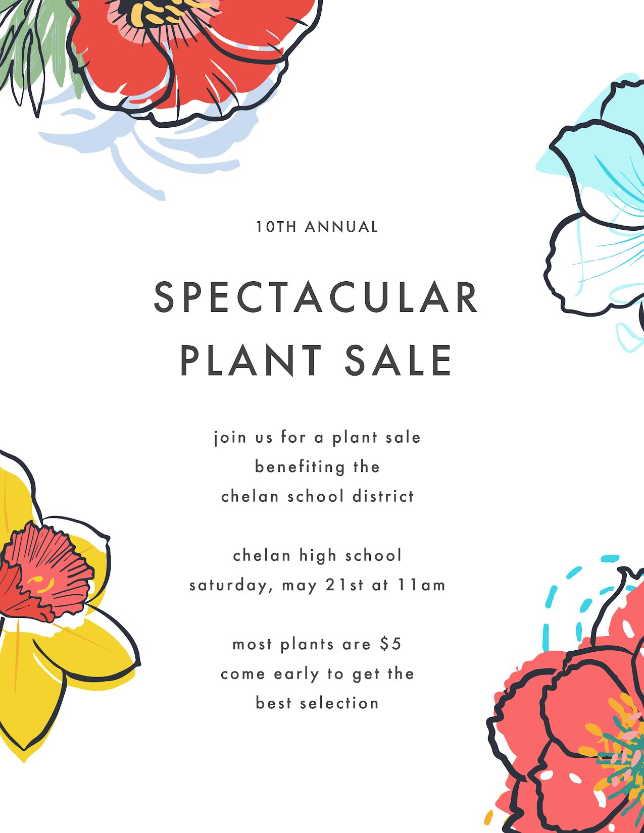 Spectacular Plant Sale - Flyer Template