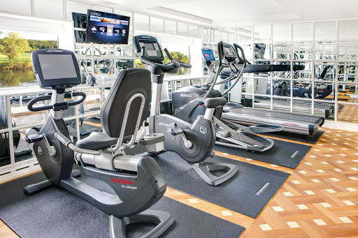 Keep in shape at the Fitness Center aboard Uniworld's River Empress.